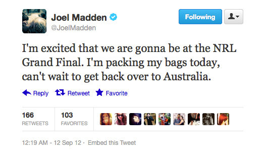 Seems like Joel Madden shares our excitement!