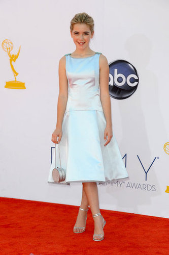 Kiernan Shipka wore a silver dress.