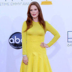 Julianne Moore Pictures at 2012 Emmys in Yellow Christian Dior