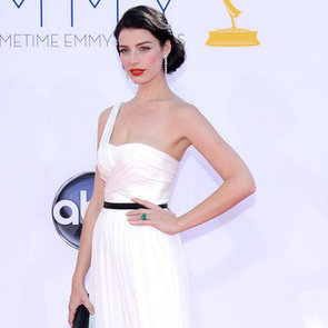 Jessica Pare in White Jason Wu Gown Pictures at 2012 Emmy Awards