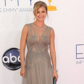 Emily VanCamp Pictures at 2012 Emmy Awards in Grey J. Mendel Gown