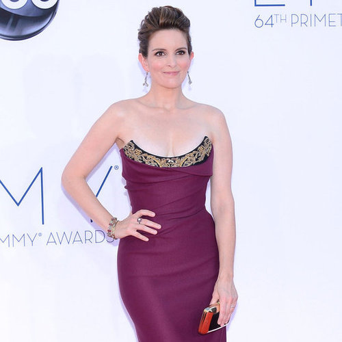 Tina Fey showed off her fit figure in a Vivienne Westwood gown.