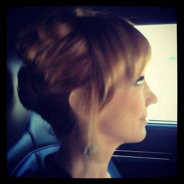 Kathy Griffin showed a profile shot of her on the way to the show. Source: Instagram user kathygriffin