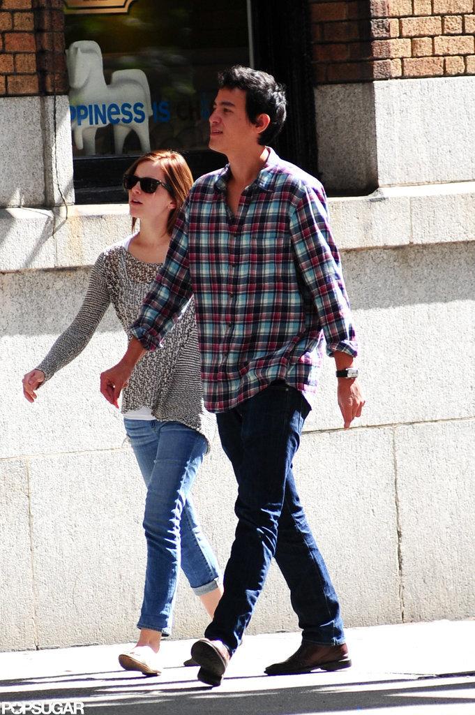 Emma Watson Welcomes Her Guy Will Adamowicz to the Big Apple