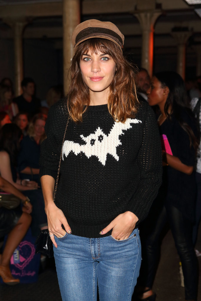 Alexa Chung went to Moschino Cheap and Chic.