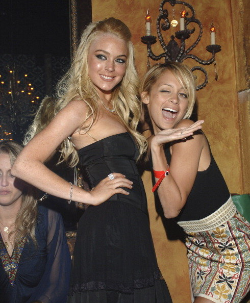 Nicole Richie celebrated Lindsay Lohan's birthday in West Hollywood in October 2011.