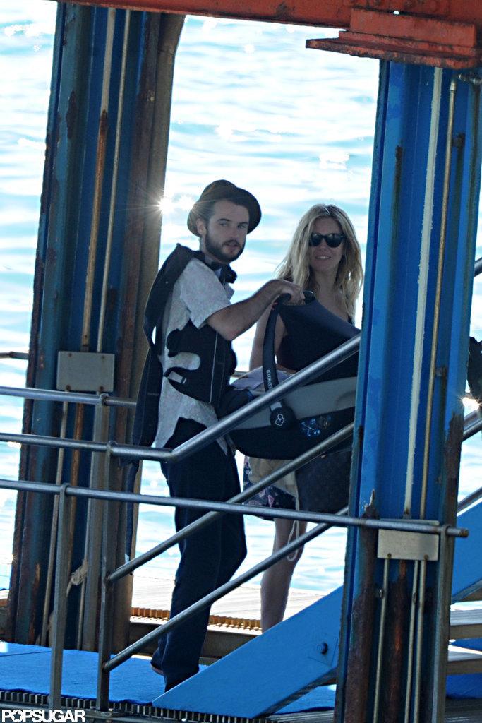 Tom Sturridge and Sienna Miller were accompanied by baby Marlowe on their getaway to Positano.
