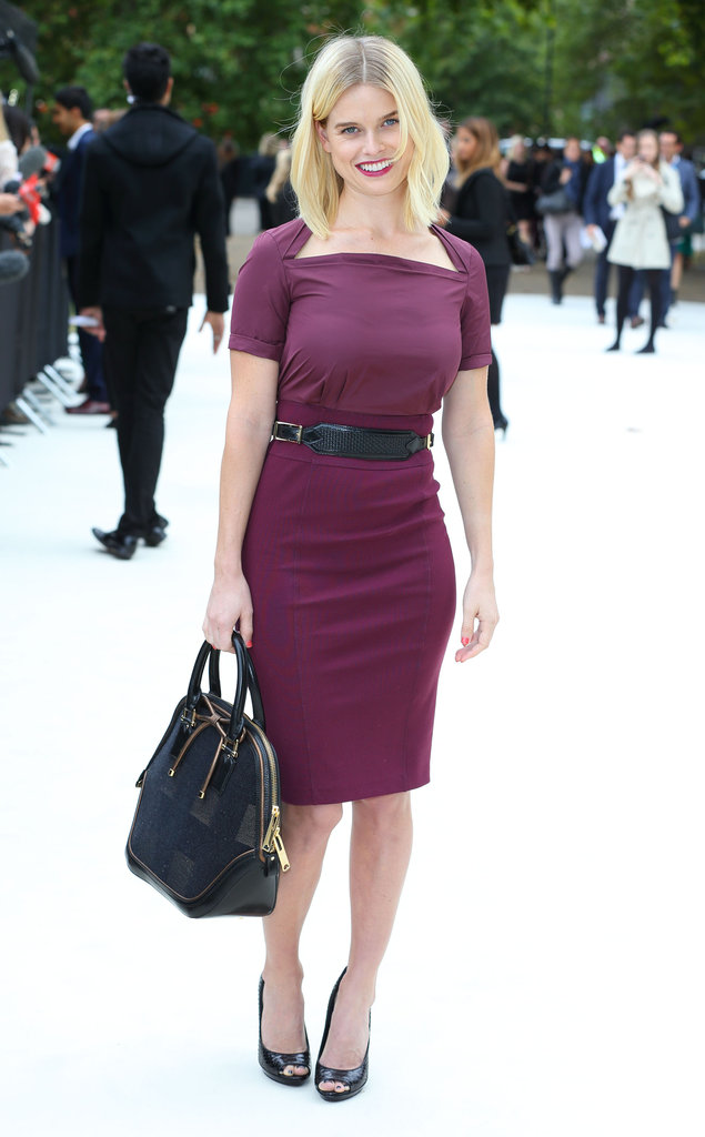 Alice Eve attended LFW.