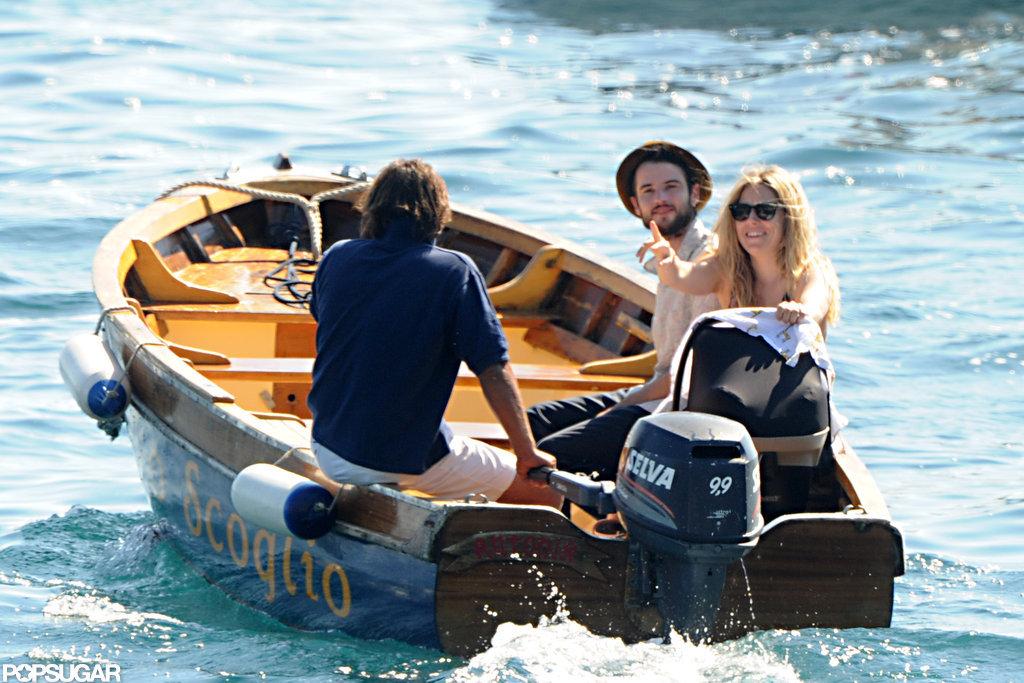 Tom Sturridge and Sienna Miller were accompanied by Marlowe Sturridge in Positano.