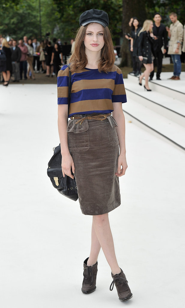 Tali Lennox at Burberry