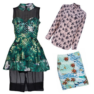 Trend: Top Five Tropical Print Dresses, Skirts, Bikinis, Shirts And Jackets