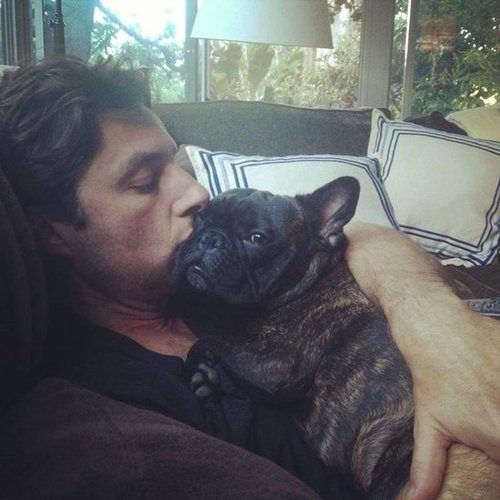 Zach Braff took a nap with a friend in September. Source: Twitter user zachbraff