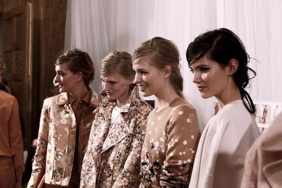 Photos of the Hair and Makeup Look at Mulberry Spring 2013 London Fashion Week