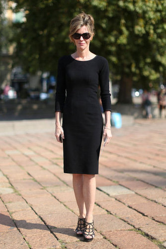 Robbie Myers worked a chic LBD.