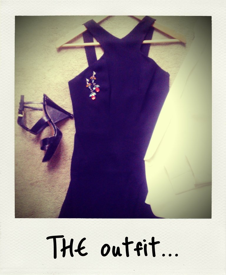 Saturday night's black tie wedding = all out glamour! I am dying to wear this elegant Bianca Spender dress. I've added sparkly Tom Binns earrings, (very) old Wittner heels, and a new Country Road white tux jacket (worn over the shoulders, no arms in sleeves please!) to keep things looking dressed-up. Excited is an understatement.