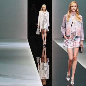 Pictures and Review of Emporio Armani Spring Summer Milan Fashion Week Runway Show