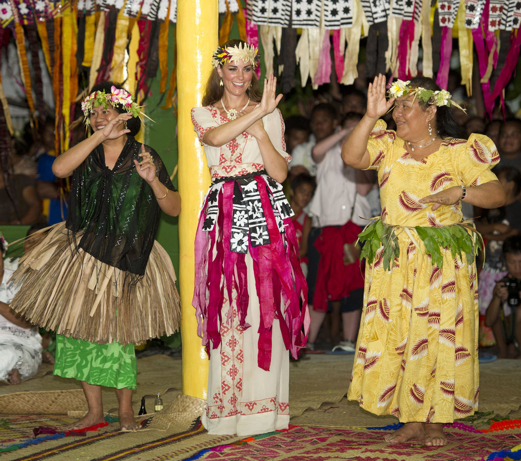 Kate Middleton danced up a storm with Tuvalu locals on September 18.