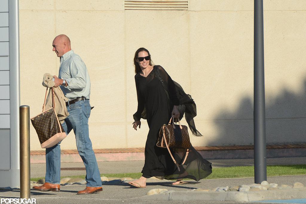 Angelina Jolie carried a Louis Vuitton bag.