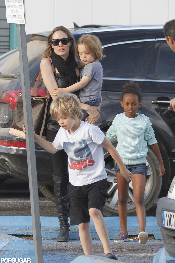 Angelina Jolie carried Knox in France.