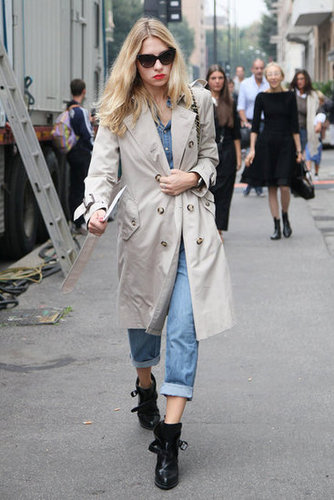 An amazing pair of boots and a classic trench coat are two essentials every styler needs in her closet. Source: Greg Kessler