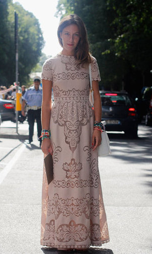 The latest Valentino gown sighting is nude-toned, cap-sleeved, and just as romantic as the rest.