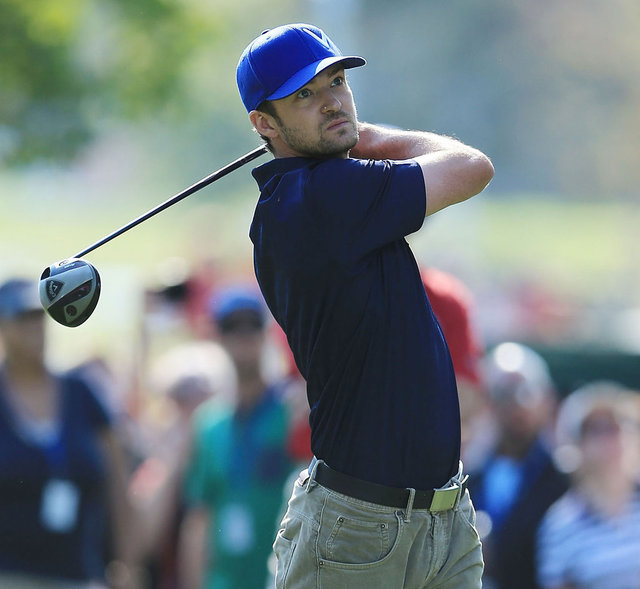 Justin Timberlake Golfing Pictures at Ryder Cup With Jessica Biel