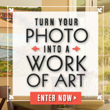 Enter For a Chance to Turn Your Photo Into a Work of Art!