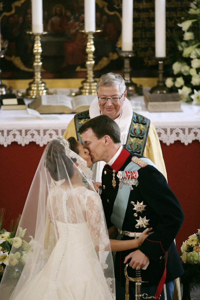 Prince Joachim and Marie Cavallier The Bride: Marie Cavallier, who worked in PR and advertising before becoming Prince Joachim's second wife. The Groom: Prince Joachim of Denmark, sixth in line to the Danish throne and the younger son of Queen Margrethe II and Henrik, Prince Consort of Denmark. When: The wedding took place on May 24, 2008. Where:They married in Mogeltonder Church, in the southwestern corner of the Danish peninsula of Jutland. Their wedding banquet occurred at the couple's residence, Schackenborg Castle.