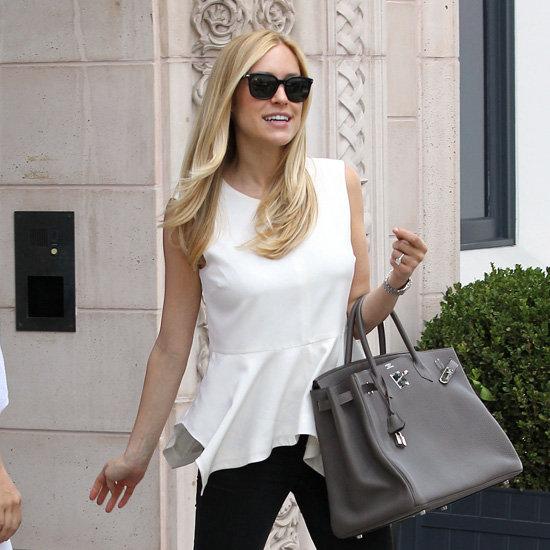 Kristin Cavallari Wearing White Peplum Top
