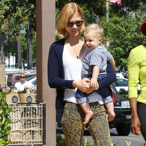 Pictures Of January Jones And Son Xander Shopping