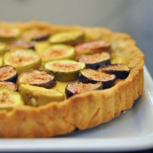 Fig and Orange-Blossom Custard Tart Recipe