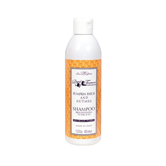 Pet owners have long lauded the benefits of pumpkin when it comes to pet digestion, but this spooky squash can also lend your pet's coat a lustrous shine. Royal Treatment's Pumpkin Patch and Nutmeg Shampoo ($23) brightens fur tearlessly with a delicious pumpkin pie scent.
