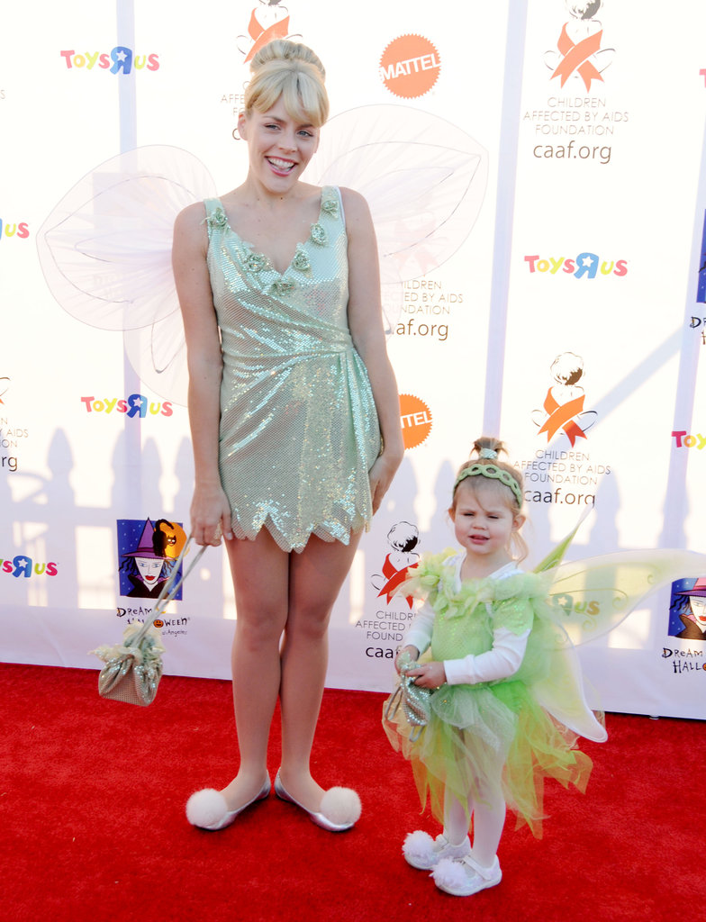 Busy Philipps and her daughter, Birdie, dressed as Tinkerbell at an LA party in 2010.