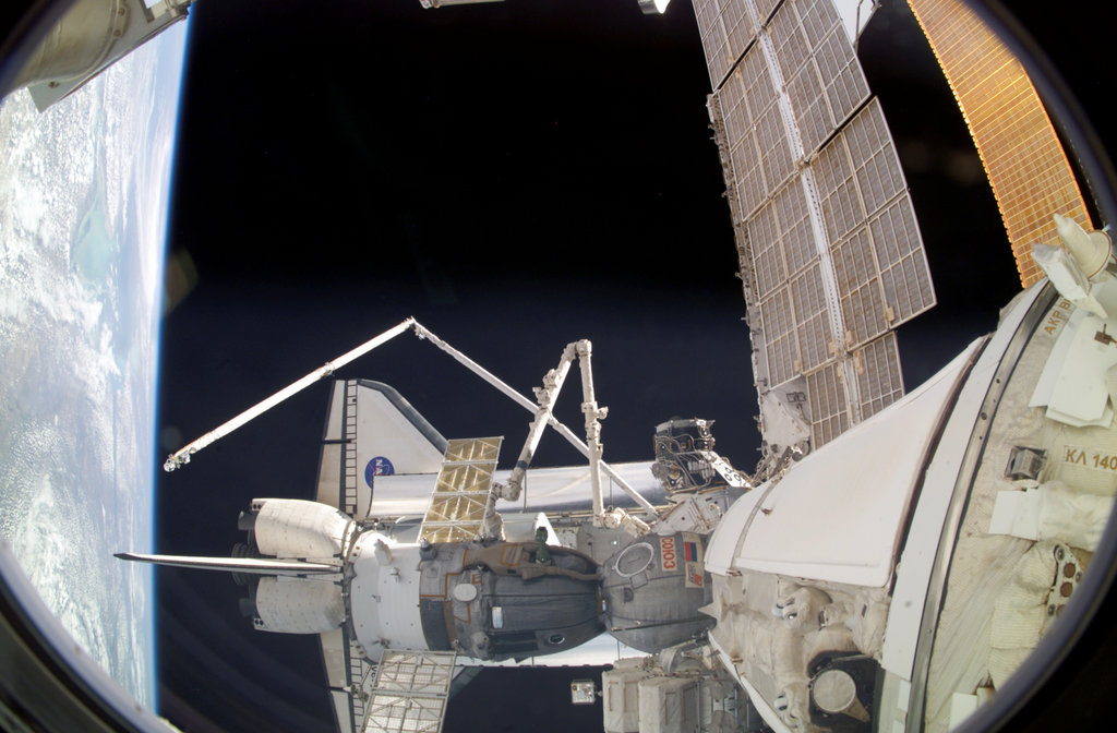 Discovery Docks to International Space Station