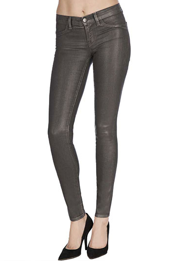 I have decided leather (ish) leggings  and cozy sweaters will be my new East Coast fall uniform; and, of course, J Brand always provides the best base. Pair these J Brand 901 Coated Skinny Jeans ($218) with flats for day and then printed heels for a night out on the town. — Liza Kaplan, fashion and beauty producer