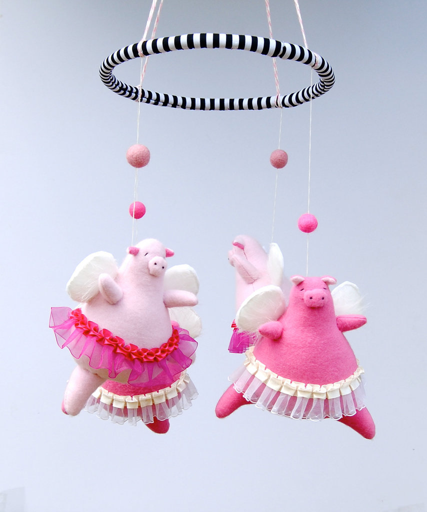 Angelic Piggie Baby Mobile