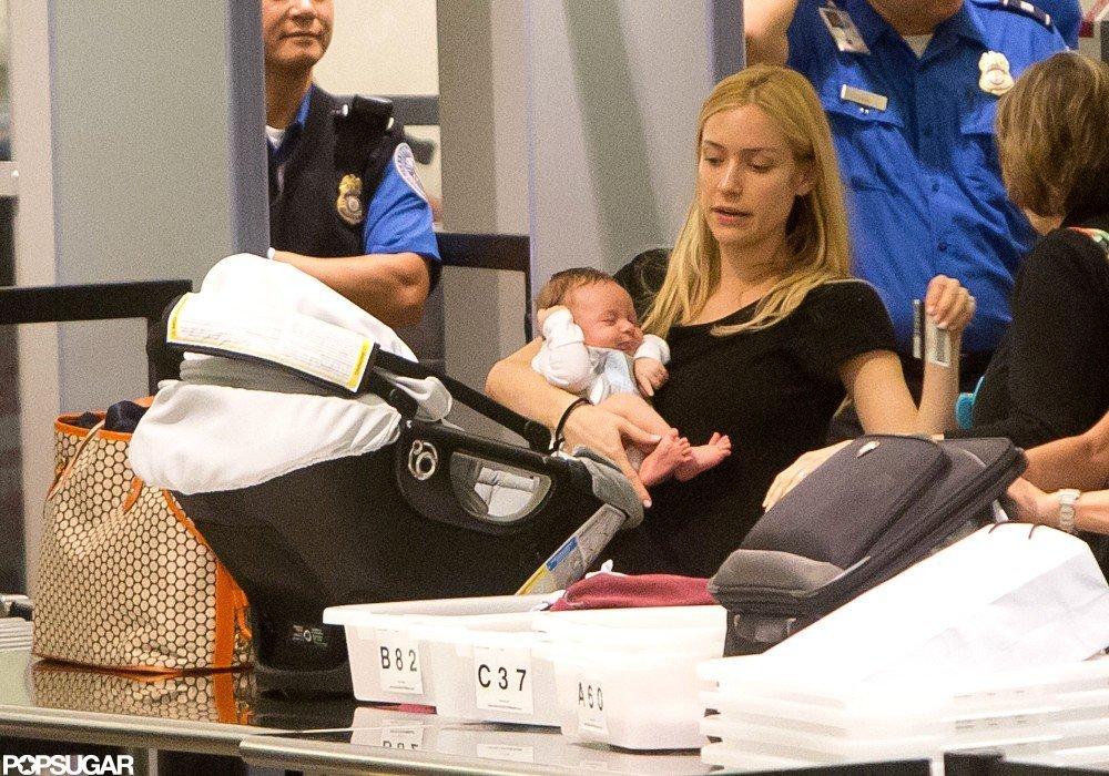Kristin Cavallari carried Camden Cutler through security.