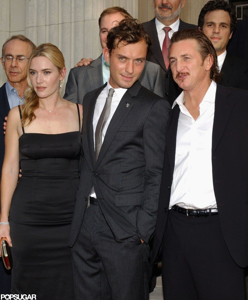 Kate Winslet posed with costars Jude Law and Sean Penn at the September 2006 New Orleans premiere of All the King's Men.