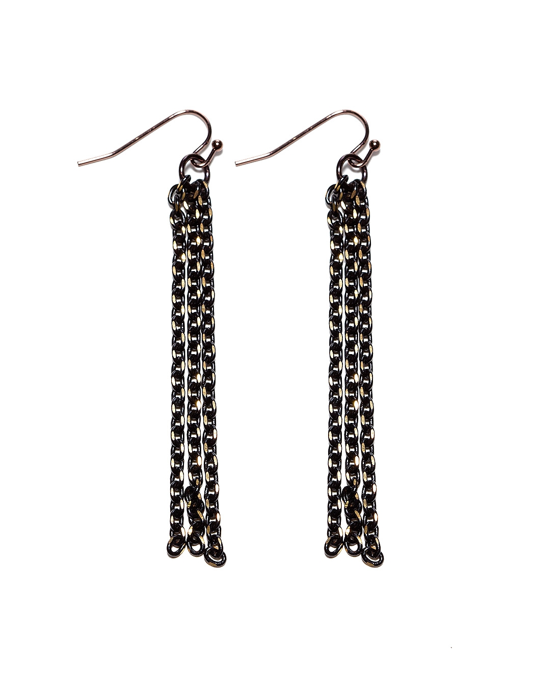 For a contemporary update on disco-feeling jewels, look to these The Limited Shimmer Chain Duster Earrings ($17) for a night out.