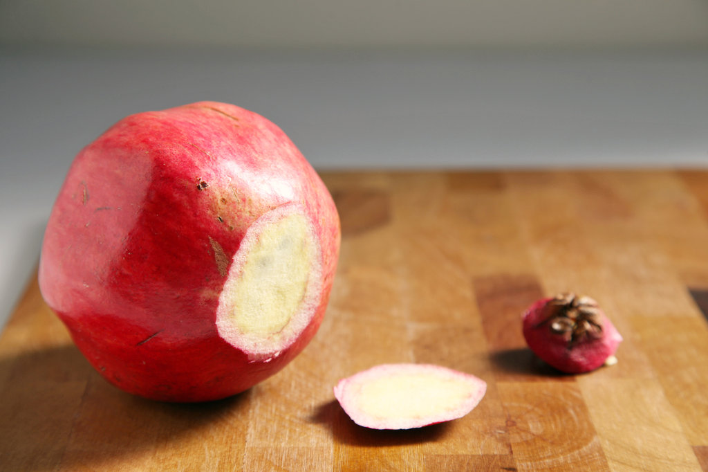 how to open a pomegranate properly
