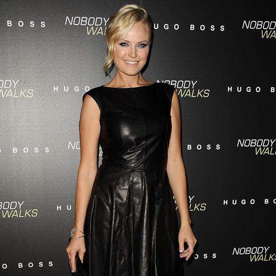 Malin Akerman Wearing Leather Dress