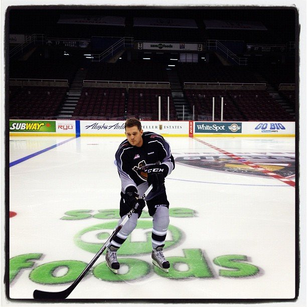 Michael Bublé hit the ice. Source: Twitter user michaelbuble