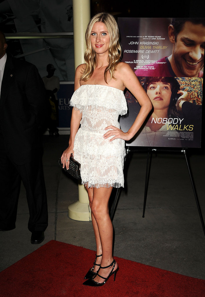 Nicky Hilton wore a fun and flirty dress to the LA premiere.
