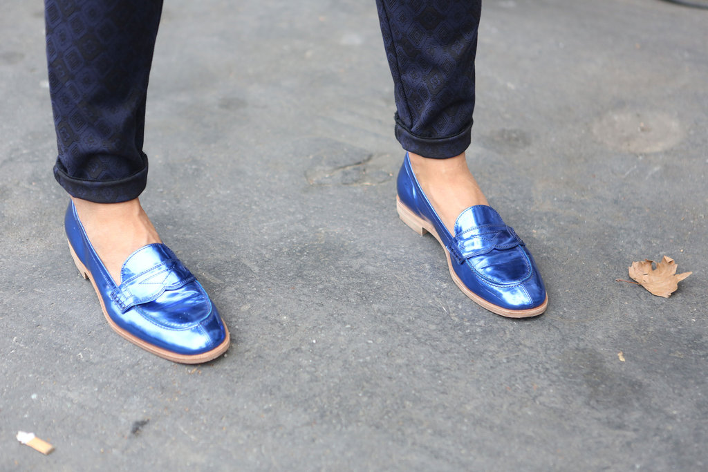 Metallic makes everything cooler, these loafers included.