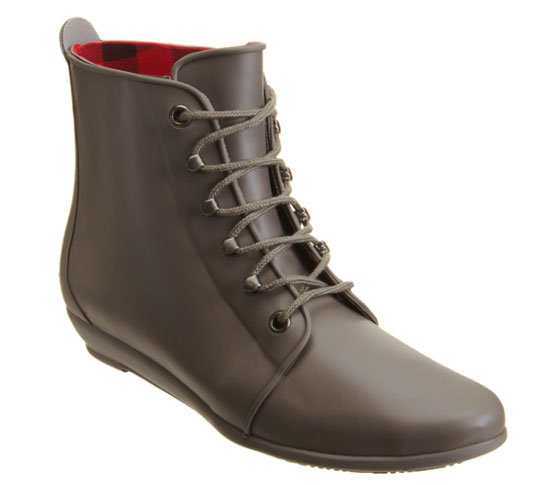 The Loeffler Randall Rain Bootie ($165) has perfected the art of a rain boot that doesn't actually look like a rain boot, which we love. Especially in this muted gray tone with a lace-up front.