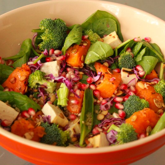 Pomegranate and Squash Salad