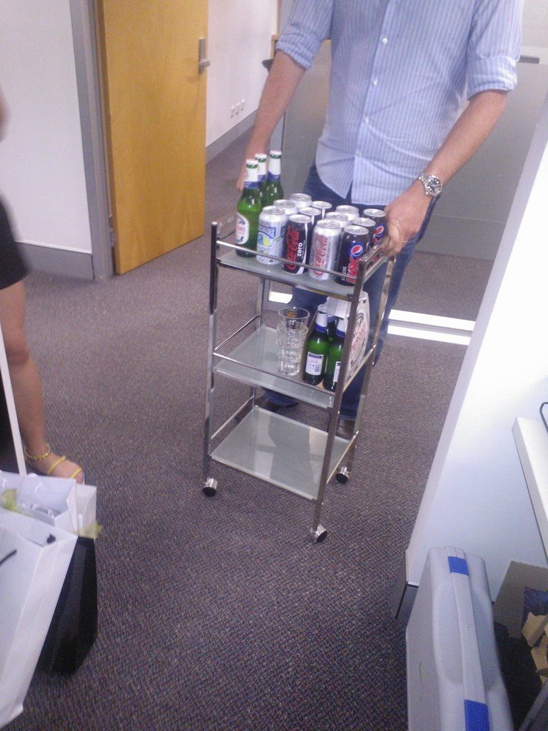 Our MD Chris is possibly the best in the world — not least of all because he wheels around a drinks cart on Friday afternoons.