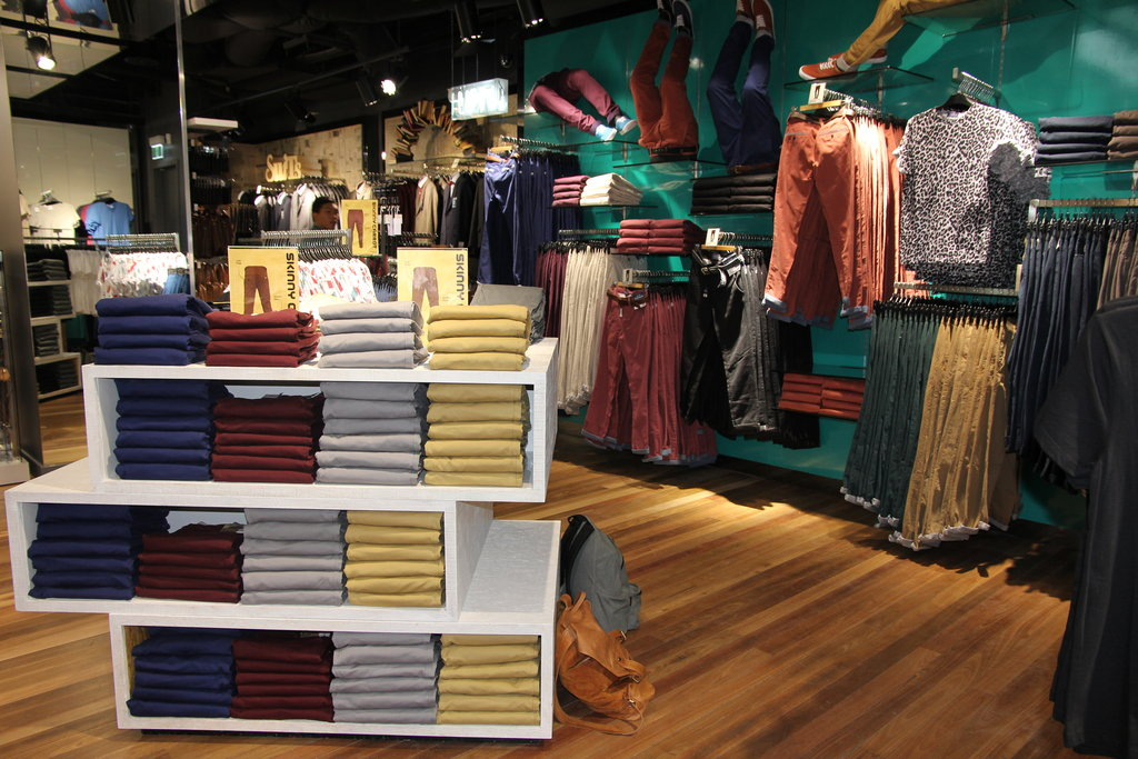 Chinos as far as the eye can see on level one.