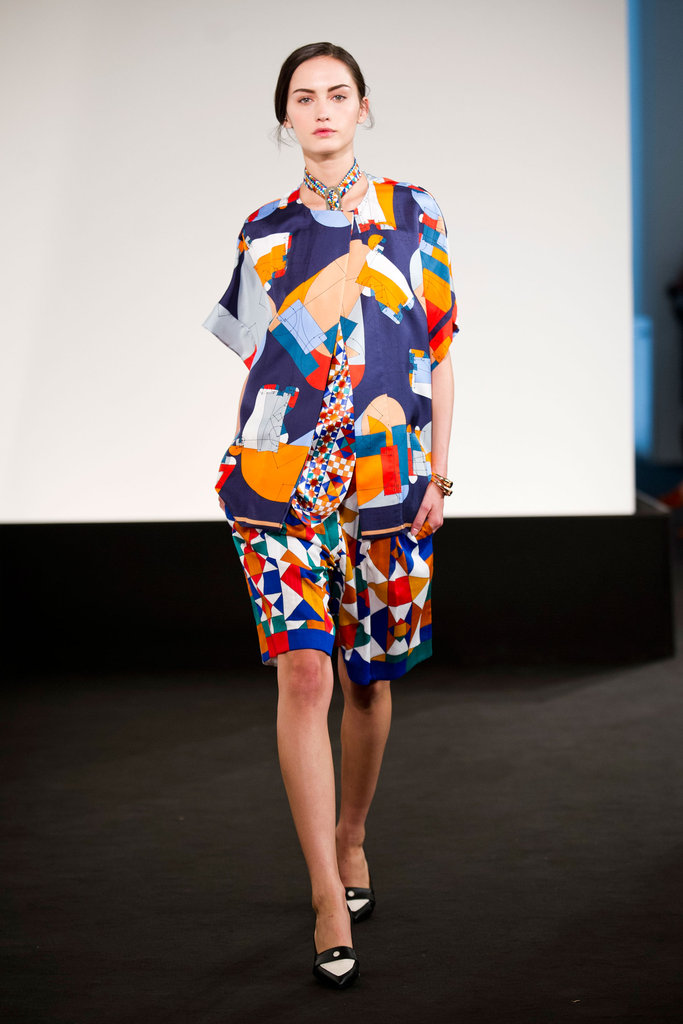 Hermès designer Christophe Lemaire fused the brand's signature eye-catching scarf prints into billowy blouses and slouchy shorts for Spring.