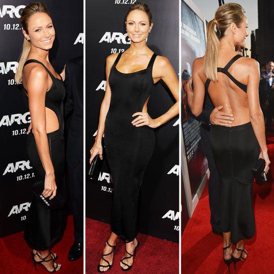 Stacy Keibler in Black Dress at Argo LA Premiere